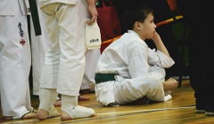 Anykščiuose pergalių siekė kyokushin karatė mažieji sportininkai