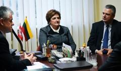 Seimo pirmininkę sutiko nedidelis būrelis kupiškėnų