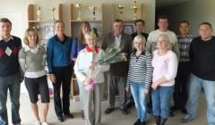 Gėlės – ilgametei stalo teniso trenerei kupiškietei Adelei Gaškienei