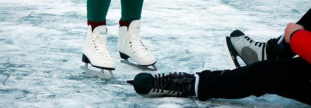 Čiuožykla – ant Kupiškio marių ledo
