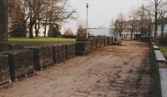 Pajudėjo Kupiškio centrinės miesto aikštės rekonstrukcijos darbai