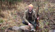 Kupiškėnas medžiotojas A. Šuminas sumedžiojo vilką