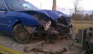 Vilkikas iš avarijos vietos išvežė į jį atsitrenkusio kupiškėno automobilį