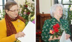 """Muziejininkės M. Mieliauskienė ir O. Mackevičienė apdovanotos sidabro ženklu """"Už nuopelnus Rokiškio krašto kultūrai"""""""