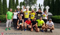 Medininkų aukų pagerbimo bėgime dalyvavo ir Kupiškio policininkai