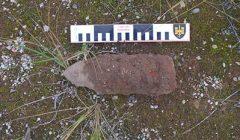 Rokiškio Nepriklausomybės aikštėje artilerijos sviedinys gulėjo ilgus metus arba buvo atvežtas su žemėmis