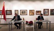 Anykštėnai pasirašė sutartį su Kinijos Pengžou miesto Sičuano provincija