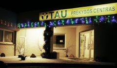 """Prekybos centro """"Tau"""" Kupiškio parduotuvė puošiasi Kalėdoms"""