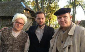 Ramūnas Cicėnas (iš kairės), Darius Gumauskas ir  Aušrys Kopūstas