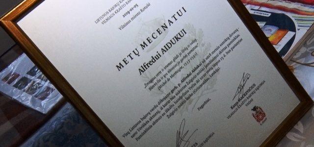 """Lietuvos bajorai kupiškėną Alfredą Aiduką įvertino """"Metų mecenato"""" nominacija"""