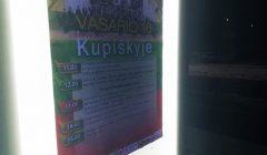 Trumpai: šviečiančios Kupiškio skelbimų lentos šviečia, bet neinformuoja