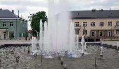 Trumpai: kupiškėnai išbandė aikštės fontaną