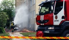 Trumpai: gaisrą Kupiškio Krantinės gatvėje sukėlė dujų sprogimas
