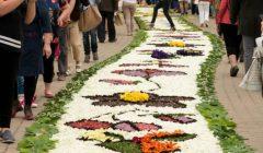 Anykščių meras vieši Uniejovo floristinių kilimų šventėje